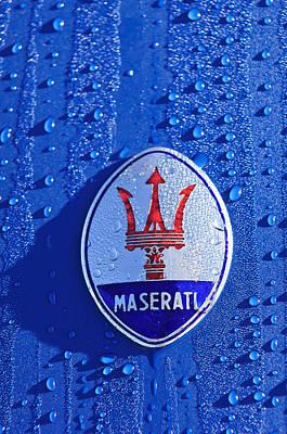1956 Maserati 350 S  Emblem -0402c Print by Jill Reger