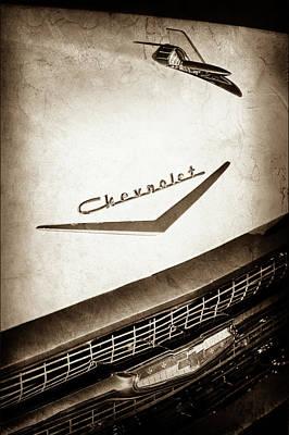1957 Chevrolet Belair Hood Ornament - Emblem -0724s Print by Jill Reger
