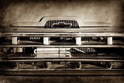 1957 Chevrolet Pickup Truck Grille Emblem -0324s Print by Jill Reger