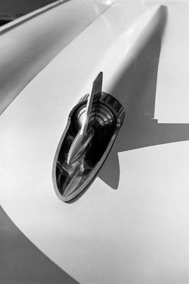 Antique Automobile Photograph - 1957 Chevy Bel Air Hood Rocket by Jon Woodhams