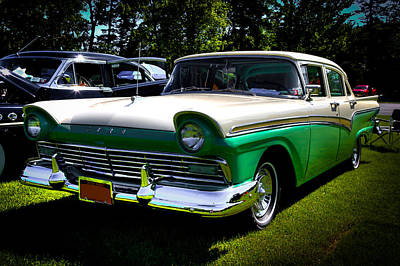 Car Photograph - 1957 Ford Fairlane 4 Door by David Patterson