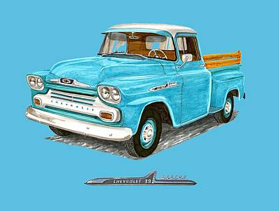 Bed Painting - 1958 Chevrolet Apache Pick Up by Jack Pumphrey