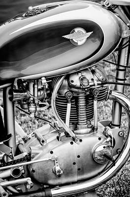 Bicycle Photograph - 1958 Ducati 175 F3 Race Motorcycle -2119bw by Jill Reger