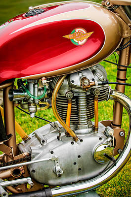 Bicycle Photograph - 1958 Ducati 175 F3 Race Motorcycle -2119c by Jill Reger