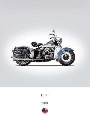 Harley Davidson Photograph - 1958 Harley Flh Panhead by Mark Rogan