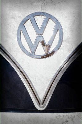 1958 Volkswagen Vw Bus Emblem -0274ac Print by Jill Reger