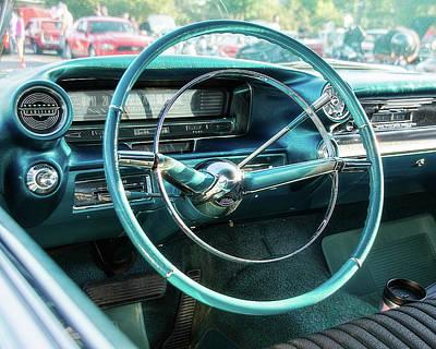 1959 Cadillac Sedan Deville Series 62 Dashboard Print by Jon Woodhams