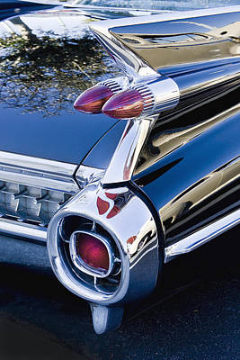 1959 Cadillac Vertical Print by Rich Franco
