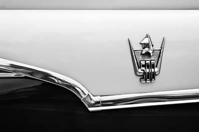 Photograph - 1959 Dodge Custom Royal Super D 500 Emblem -0245bw by Jill Reger