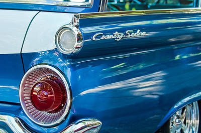 1959 Ford Country Sedan Tail Light Print by Jill Reger