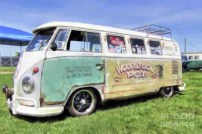 Drag Mixed Media - 1959 V.w. Split Window Bus by Marion Johnson