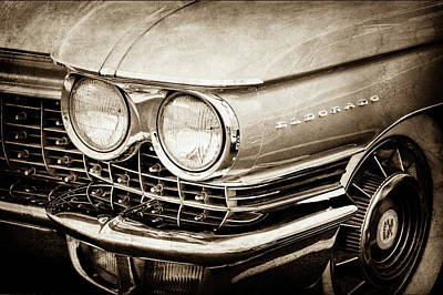1960 Cadillac Eldorado Grille Emblem -0263s Print by Jill Reger