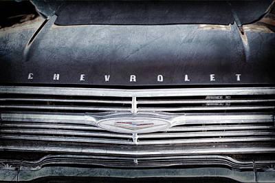 1960 Chevrolet El Camino Grille Emblem -0097ac Print by Jill Reger