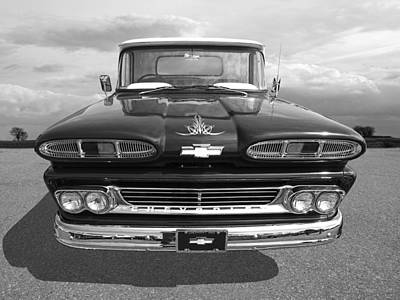 1960 Chevy Truck Print by Gill Billington