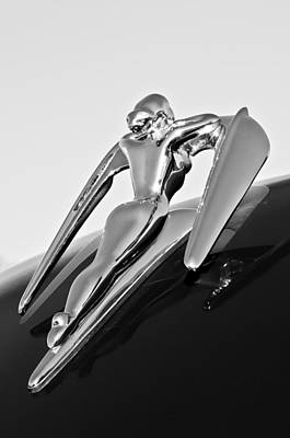 Ornament Photograph - 1960 Nash Metropolitan -0854bw by Jill Reger