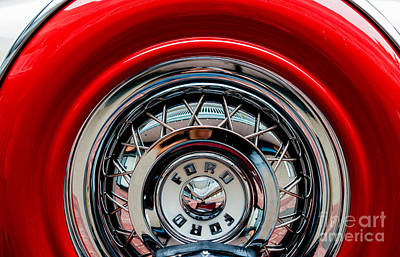 Print featuring the photograph 1958 Ford Crown Victoria Wheel by M G Whittingham