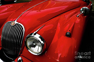 Print featuring the photograph 1960s Jaguar by M G Whittingham