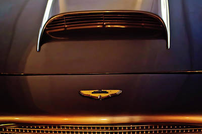 Hoodie Photograph - 1961 Aston Martin Db4 Coupe Emblem by Jill Reger
