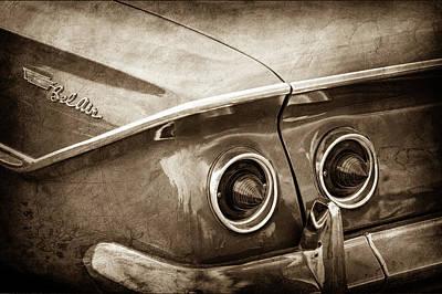 1961 Chevrolet Bel Air Taillight Emblem -0254s Print by Jill Reger