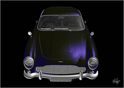 Sean Connery Mixed Media - 1963 Aston Martin Black by Edier C