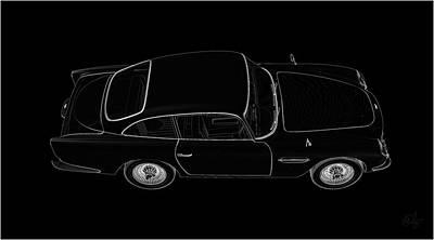 Sean Connery Mixed Media - 1963 Aston Martin Black Print by Edier C