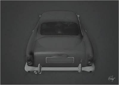 Sean Connery Mixed Media - 1963 Aston Martin Gris by Edier C