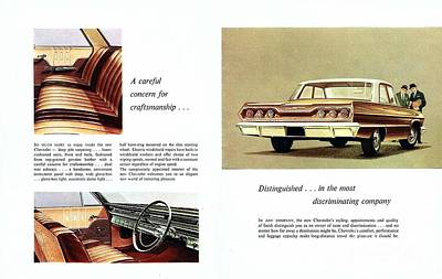 1963 Chevrolet Brochure Inside View Print by R Muirhead Art