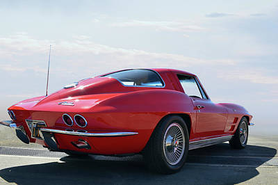 1963 Corvette Coupe Print by Bill Dutting