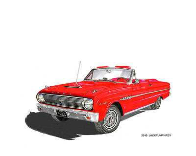 1963 Ford Falcon Sprint V 8 Print by Jack Pumphrey