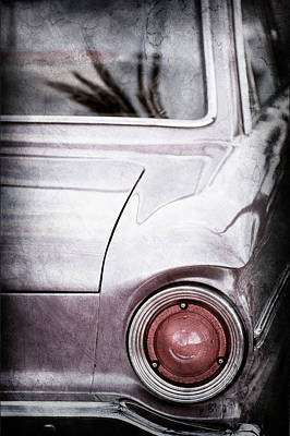 1963 Ford Falcon Taillight -0566ac Print by Jill Reger