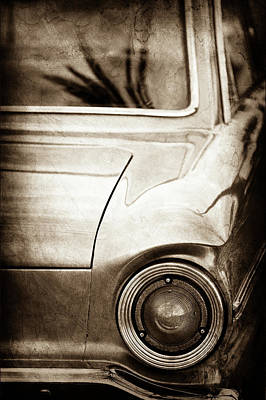 1963 Ford Falcon Taillight -0566s Print by Jill Reger