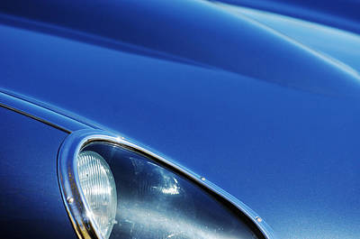 1963 Photograph - 1963 Jaguar Xke Roadster Headlight by Jill Reger