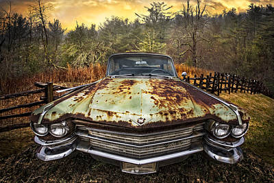 1964 Cadillac Print by Debra and Dave Vanderlaan
