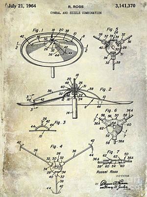 1964 Cymbal Patent  Print by Jon Neidert