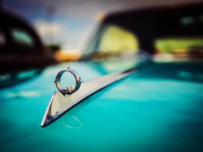 1964 Ford Galaxie 500 Xl Hood Ornament Print by Jon Woodhams