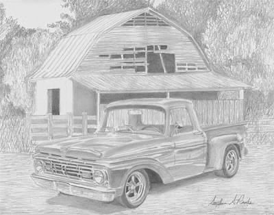 1964 Ford Pickup Truck Art Print Print by Stephen Rooks