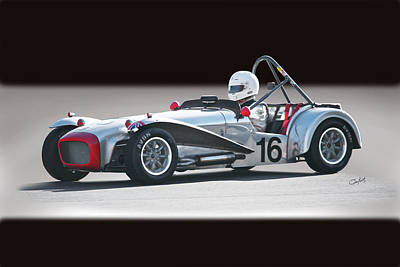 Lotus Racecar Photograph - 1964 Lotus Super 7 Vintage Racecar by Dave Koontz