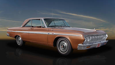 Fury Photograph - 1964 Plymouth Sport Fury by Frank J Benz