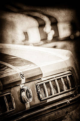 1965 Ford Shelby Mustang Gt 350 Tail Light -1037s Print by Jill Reger