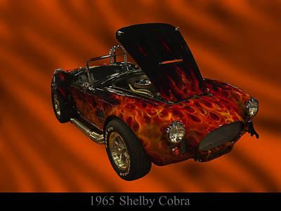 Poster From Digital Art - 1965 Shelby Cobra by Chris Flees