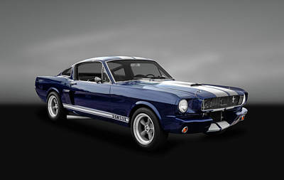Ford Street Rod Photograph - 1965 Shelby Ford Mustang Gt 350 Fastback - 65fdmusgt973 by Frank J Benz