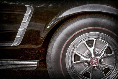 Photograph - 1965 Shelby Prototype Ford Mustang Wheel -0002ac by Jill Reger