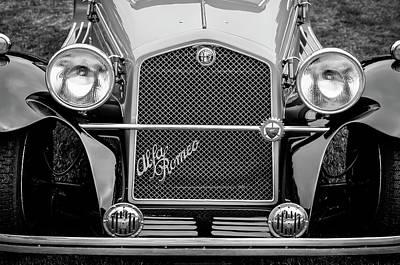 Photograph - 1966 Alfa Romeo Quattro Route 4r -0134bw by Jill Reger