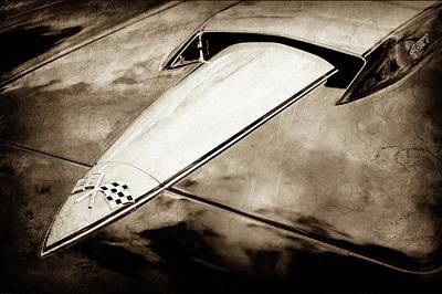1966 Chevrolet Corvette Hood Emblem -0069s Print by Jill Reger