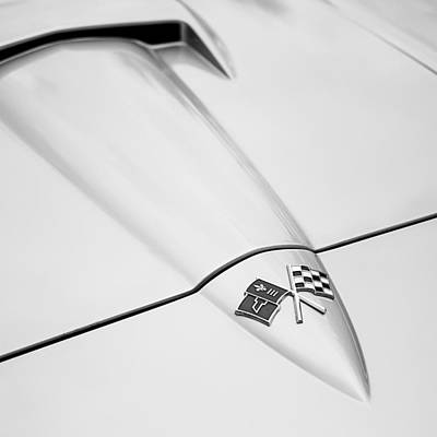 Classic Auto Photograph - 1966 Corvette Stingray Hood 2 by Jon Woodhams