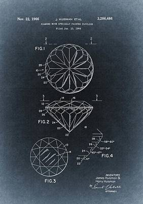 Diamond Engagement Ring Drawing - 1966 Diamond Illustration by Dan Sproul