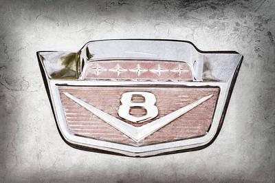 1966 Ford F100 Pickup Truck Emblem -116ac Print by Jill Reger