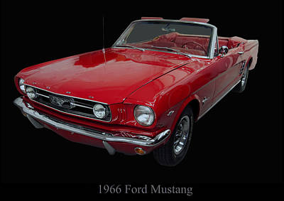 Poster From Digital Art - 1966 Ford Mustang Convertible by Chris Flees