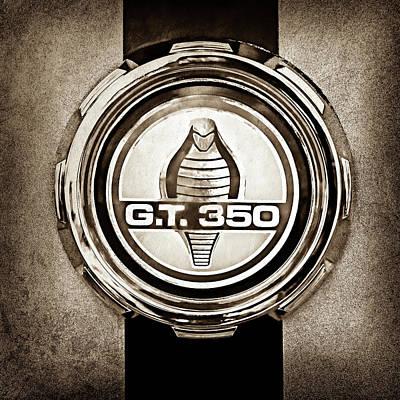 1966 Ford Mustang Convertible Gt 350 Cobra Emblem -0328s Print by Jill Reger
