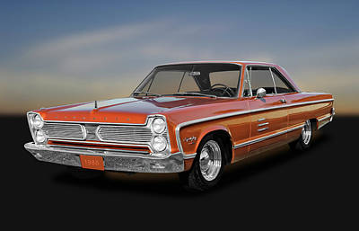 Fury Photograph - 1966 Plymouth Sport Fury - 66plyspfry1195 by Frank J Benz